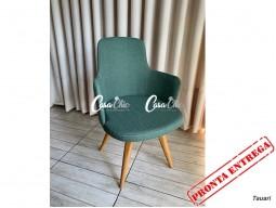 Cadeira Betina M1030 Tecido Linho Verde COM ENTREGA IMEDIATA